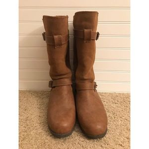BearPaw Shoes - BearPaw Edith Boot tall leather boot brown sz 8